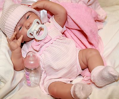 NEW~  Preemie 15 Inch Berenguer La Newborn Pacifier Baby Doll Set + Extras