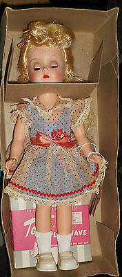 "Vintage Ideal's NEW Toni Walker Doll, Sub-Deb Size-14 1/2"", w/Hangtag, Box, Accy"