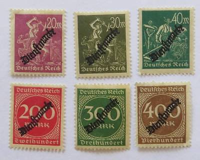 Germany 1923 small collection with Official overprint unused