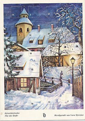 Advent-Kalender in Postkartenform  von 1969   21/12/14