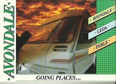 AVONDALE, LEDA AND PERLE RANGES CARAVAN MOTORHOME SALE BROCHURE LATE 80's+PRICES