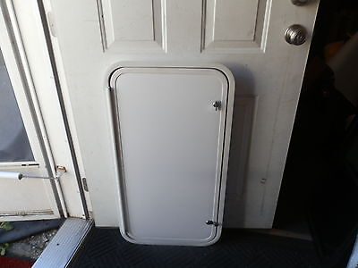 """RV CARGO DOOR R.O. 35"""" TALL X 18"""" WIDE X 2"""" THICK"""