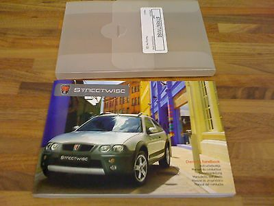 Rover Streetwise Owners Handbook/Service book