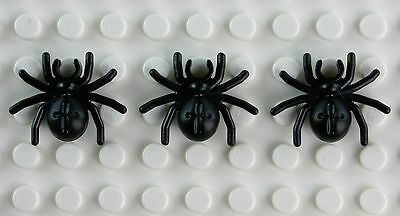 NEW LEGO BLACK SPIDER LOT OF 3 animal insect minifig Halloween Harry Potter
