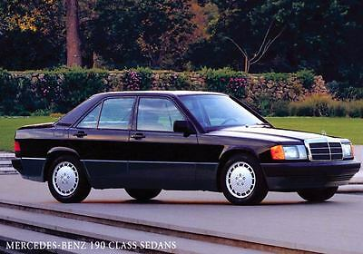 1991 Mercedes Benz 190E 2.3 & 190E 2.6 Sedan ORIGINAL Factory Postcard my1856