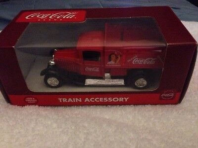 COCA COLA VINTAGE  DELIVERY TRUCK TRAIN ACCESSORY - NIB K-94528 Woman Lady Girl