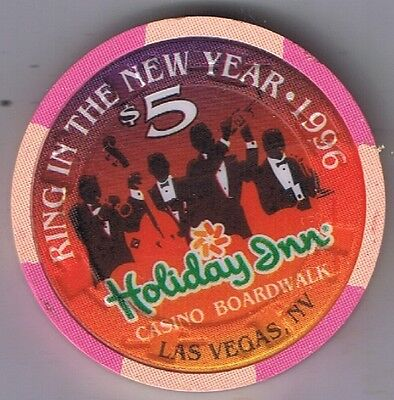 Holiday Inn Casino $5.00 Ring In The New Year Casino Chip Las Vegas Nevada 1996