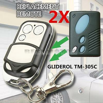 2x Replacement Garage Door Remote Control For Gliderol TM305C GRD2000 GTS2000