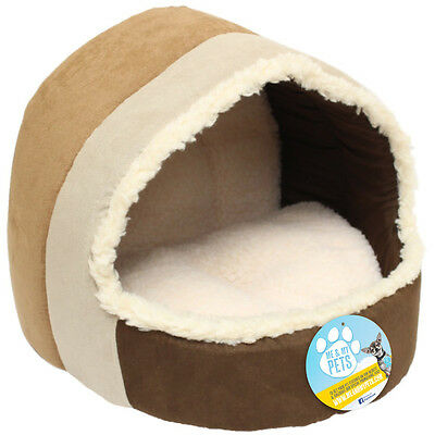 Me & My Luxury Soft Plush Cat/dog Igloo Pet Bed Warm House/mat/snug Puppy/kitten