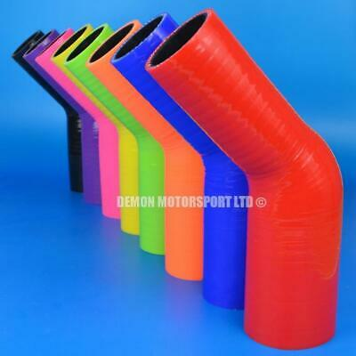 Silicone Hose 45 Degree Reducer Bend All Sizes / Colours Available (Black Liner)