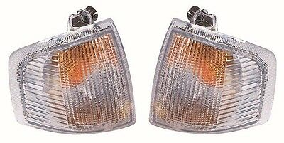 Ford Escort Mk4 1986-1990 Clear Front Indicator Lights 1 Pair O/S & N/S
