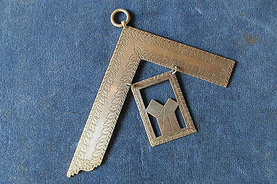 """VERY RARE early VICTORIAN 1839 Silver Past Master  COLLAR JEWEL  """" ACKLAM """""""