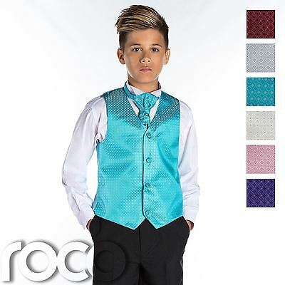 Boys Waistcoat Suit, Boys Wedding Suits, Page Boy Suits, Black Trousers