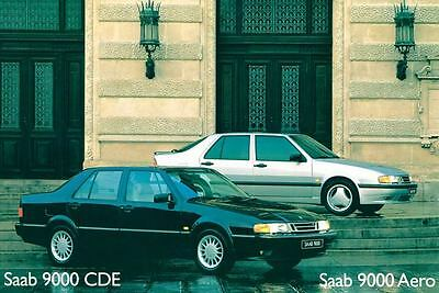 1995 Saab 9000 CDE & Aero ORIGINAL Large Factory Postcard my1951