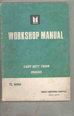1967 1968 Isuzu Elf TL Series Truck Chassis Workshop Manual ja0233