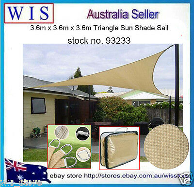 Triangle Shade sail,Outdoor Sun Shade Sail,UV Protection,Beige,3.6x3.6x3.6m93233