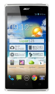 Acer Liquid Z5 Android Mobile Phone Touchscreen White Smartphone Unlocked