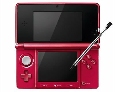 NEW Nintendo 3DS - Metalic Red - Japanese Import (Works with Japanese Games