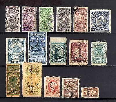 OLD stamp LOT REVENUES Used-Unused WORLDWIDE.LOTE de sellos FISCALES del MUNDO