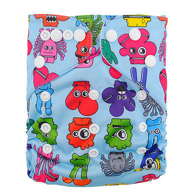Nice washable pocket Reusable Baby Cloth Diaper Nappy+1Insert for girls N31