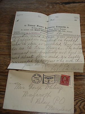 NATURAL FLOWER PERFUMERY Co NY & RUSSIA! perfume soaps 1910 COVER & ADS Relay MD