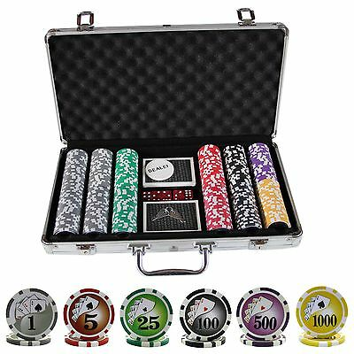 300 Casino Table Hi Roller Poker Chips Set