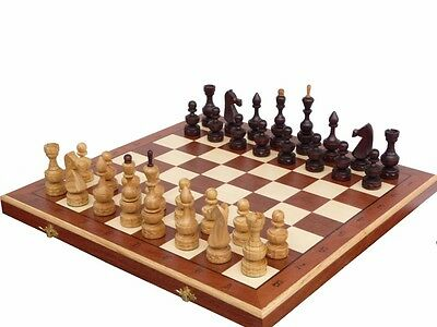 Hand Carved Wooden Chess Set - Debut