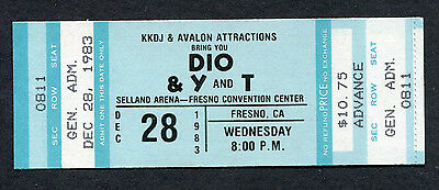 1983 Dio Y and T Unused Full Concert Ticket Fresno In Rock We Trust Holy Diver