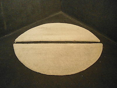 """GREY CARPETED  PLYWOOD TRAILER FENDER WELL COVER SET 30"""" X 13.5"""" # 3"""