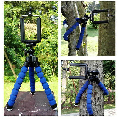 Mini Octopus Flexible Tripod Stand Blue For iPHONE GALAXY S5 Camera Smart
