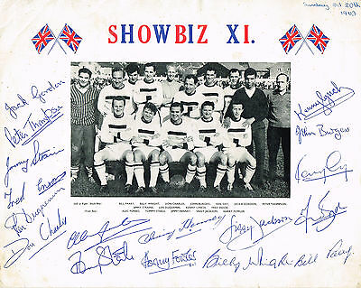Showbiz 11 Multi Signed Hand Signed Autographed Picture - Billy Wright Wolves