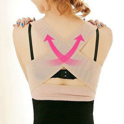 Chic Posture Corrector Breast Bust Push Up Shaper Enhancer Bra Support M L -CB