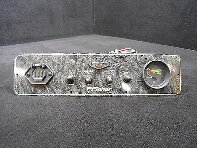 FISHER FISHING/PONTOON BOAT DASH PANEL WITH VOLT GAUGE AND SWITCHES # 1
