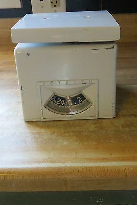 old porcelain Detecto scale up to 25 pounds collectible working small quality