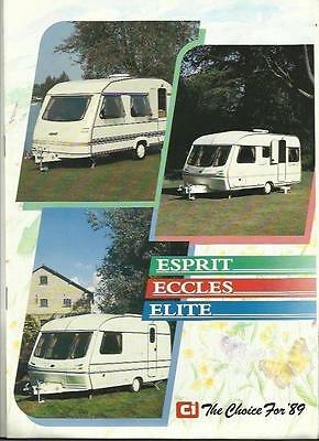 Ci ESPRIT, ECCLES AND ELITE CARAVAN SALES BROCHURE 1988/89 + PRICES