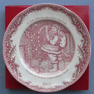 Johnson Brothers 2013 Twas the Night Before Christmas Collector Plate NIB