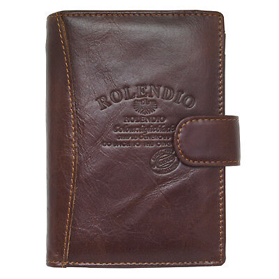 Genuine Leather Passport Wallet Case Holder Cover for Travel Clutch Purse