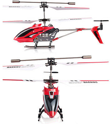 SYMA S107G 3.5 Channel 3CH Mini Metal Remote Control RC Helicopter GYRO Red EPS