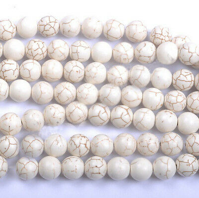 50Pcs Howlite Turquoise Gemstone Round Loose Beads 6mm 8mm 10mm 12mm 14mm