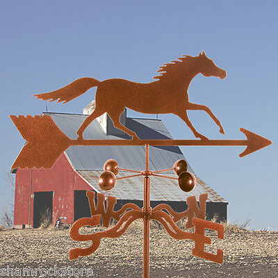 Vintage Running Horse Weathervane Traditional Antique Look w/ Choice of Mount -
