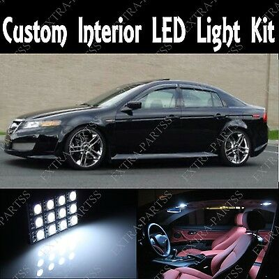 7 X NEW WHITE CUSTOM INTERIOR LED PACKAGE KIT FOR 2004-2008 ACURA TL HID XEXON