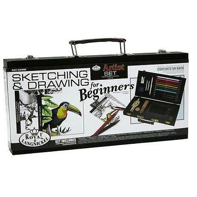 Royal & Langnickel 'How To' Sketching & Drawing Kit for Beginners New
