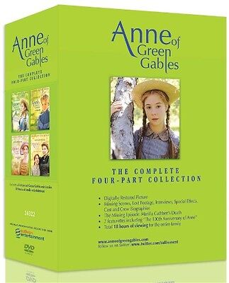ANNE OF GREEN GABLES COMPLETE COLLECTION New 4 DVD Set
