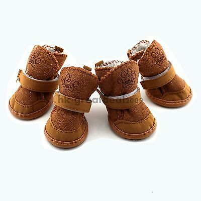 HOT Warm Winter Cozy Pet Dog Chihuahua Boots Puppy Shoes Small Dog Size XL 4#