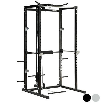 Mirafit Power Rack Squat Cage & Cable Lat Pull Up/Down/Row/Curl Station/Machine