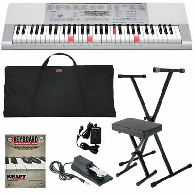 Casio LK-280 Lighted-Key Portable Electronic Keyboard STAGE ESSENTIALS BUNDLE