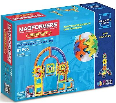 Magformers Magnets in Motion 61 Pc Magnetic Construction Set 63205 NEW