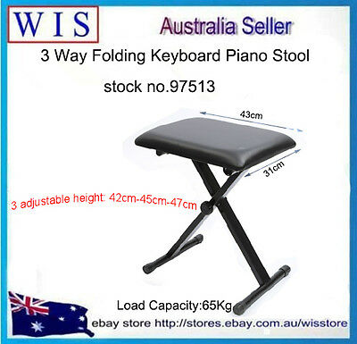 Adjustable Padded Keyboard Bench,Black Padded Stool with Height Adjust-97513