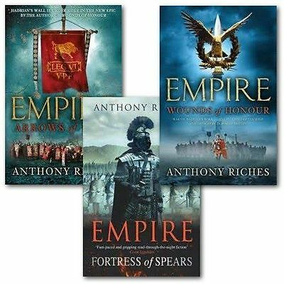 Anthony Riches Empire Collection 3 Books Collection Gift Set Wounds of Honour,