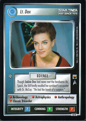 Star Trek Ccg Trouble With Tribbles Rare Card Lt. Dax
